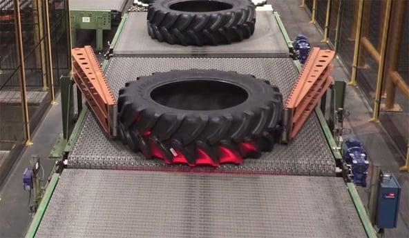 Fabricación de los neumáticos de tractor